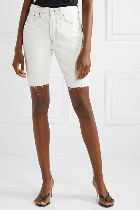 80s frayed denim shorts