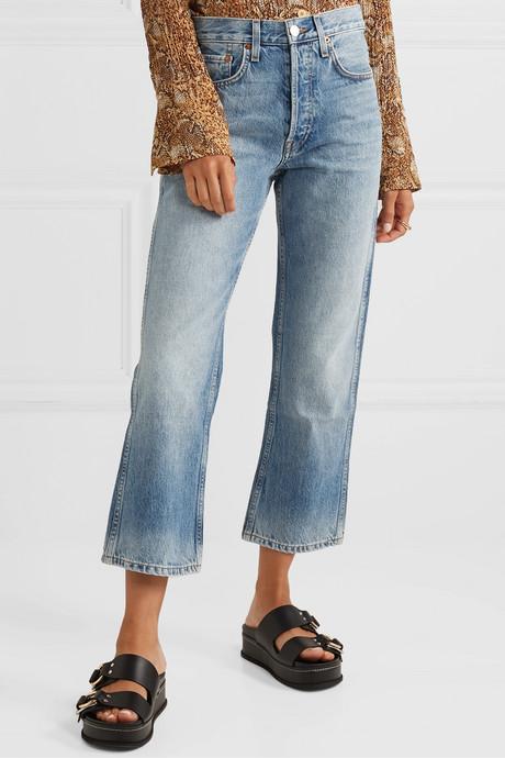 90s Low Slung Crop boyfriend jeans