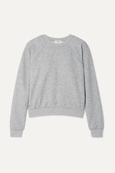 Re/done T-shirts 50S FRENCH COTTON-BLEND TERRY SWEATSHIRT