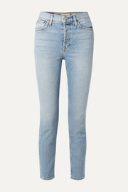 Comfort Stretch cropped high-rise skinny jeans