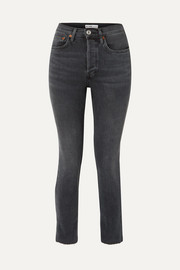 RE/DONE Originals Comfort Stretch cropped high-rise skinny jeans