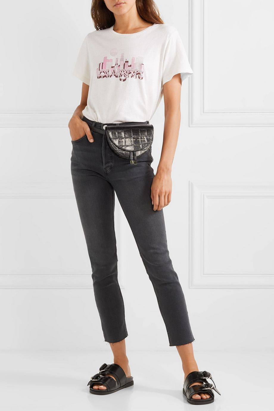 RE/DONE Comfort Stretch cropped high-rise skinny jeans