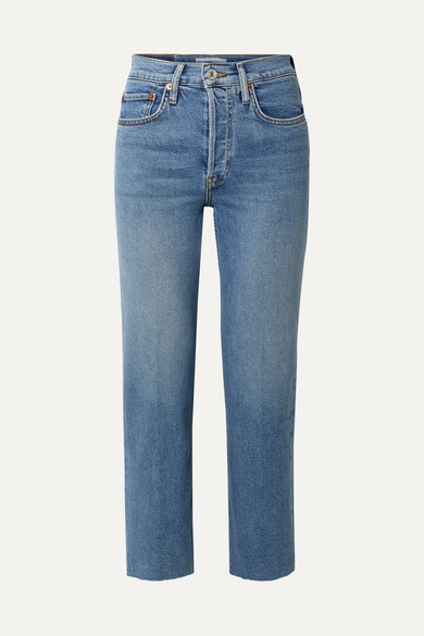 Re/done Jeans ORIGINALS STOVE PIPE COMFORT STRETCH HIGH-RISE STRAIGHT-LEG JEANS