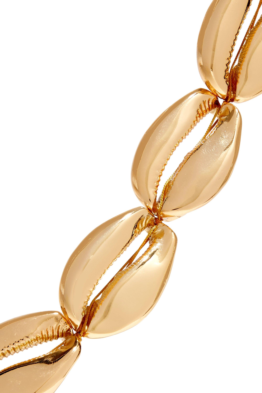 Tohum Mega Puka gold-plated necklace