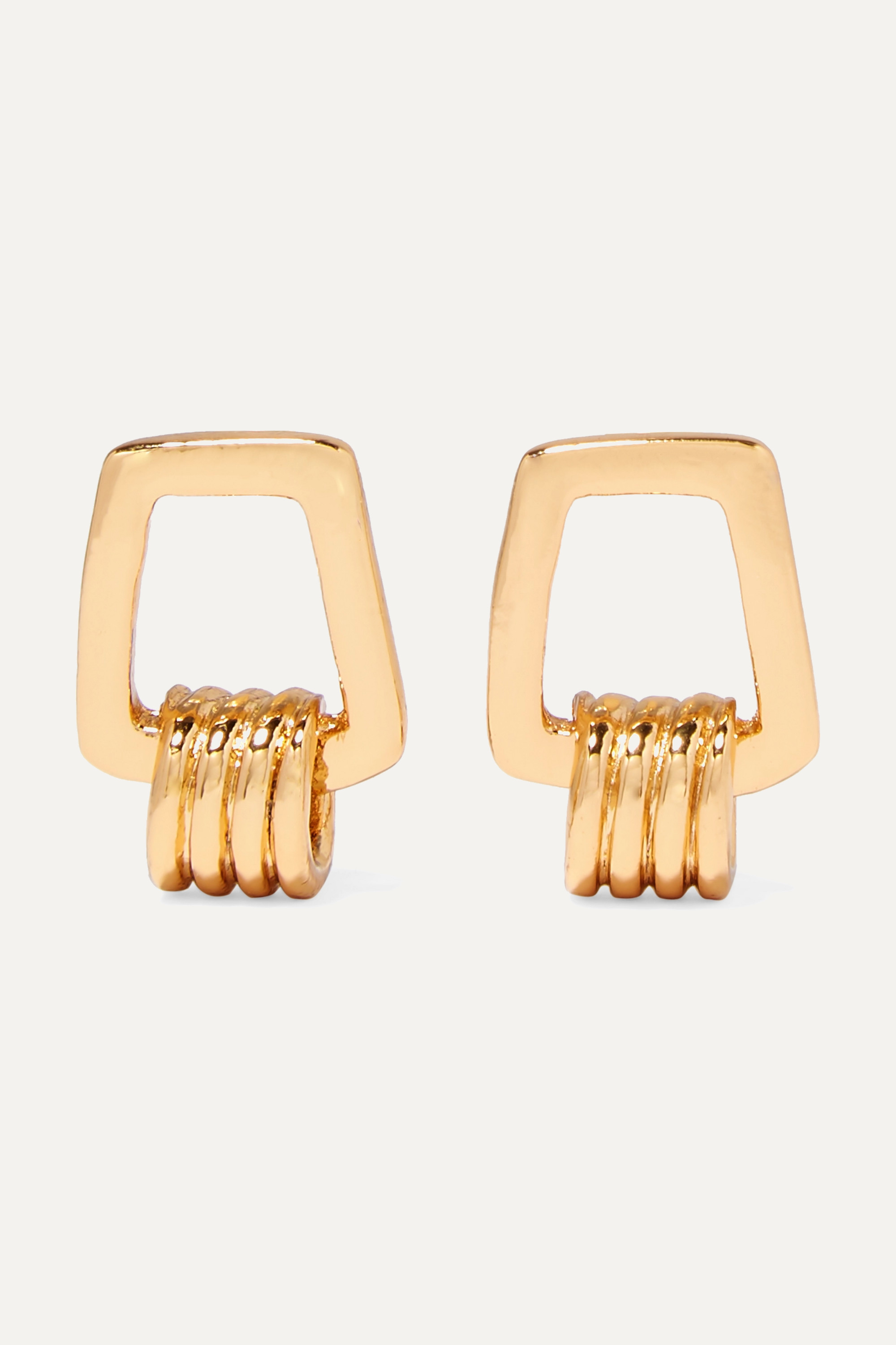 Tohum Dunya Karo gold-plated earrings