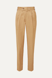 Sabi linen-blend twill slim-leg pants