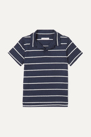 Orlebar Brown Kids Freddy striped linen-jersey polo shirt