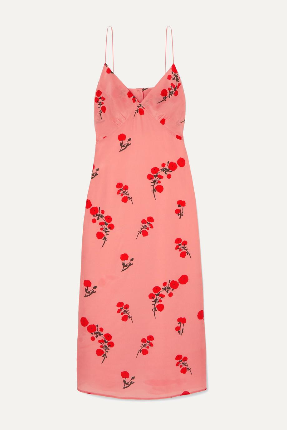 BERNADETTE | June floral-print silk crepe de chine midi dress | NET-A-PORTER.COM