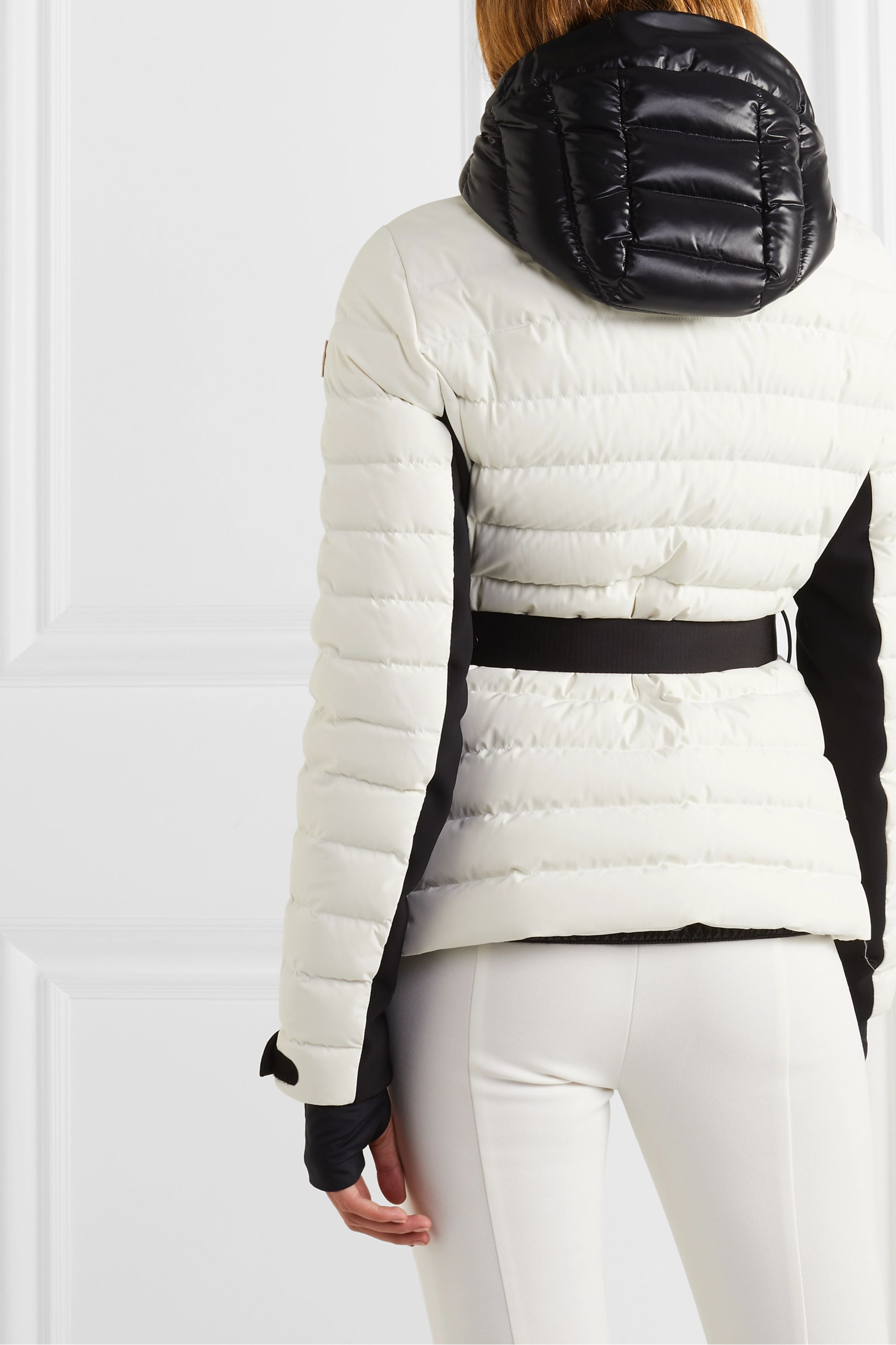 Moncler Grenoble Bruche belted two-tone quilted ski jacket