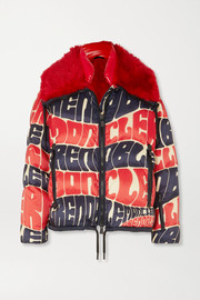 Plaret faux fur-trimmed printed down ski jacket