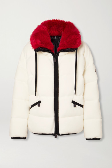Quilted Fleece Down Jacket