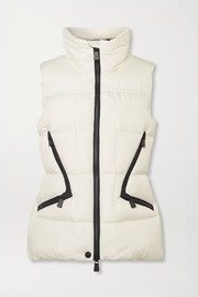 Atka quilted down ski vest