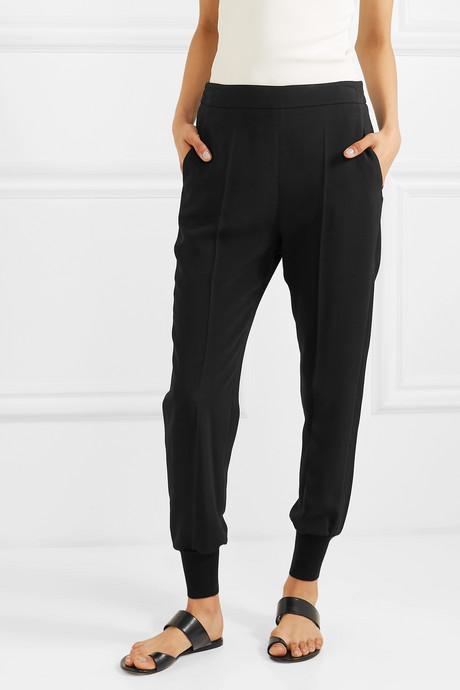 Julia stretch-cady track pants