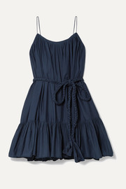 Nala ruffled cotton-poplin mini dress