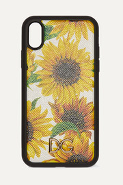 Dolce & Gabbana Floral-print textured-leather iPhone XR case