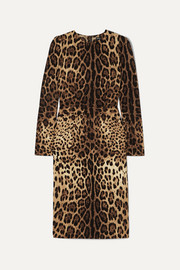 Dolce & Gabbana Leopard-print silk-blend midi dress