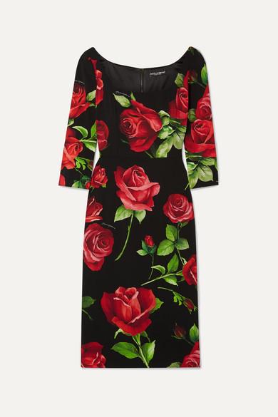 Dolce & Gabbana Dresses FLORAL-PRINT SILK-BLEND CHIFFON DRESS
