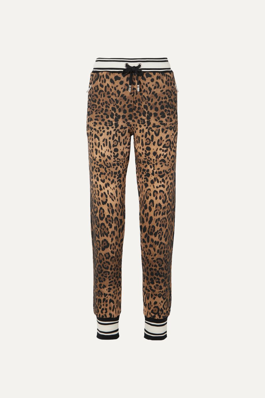 Dolce & Gabbana Leopard-print cotton-jersey track pants
