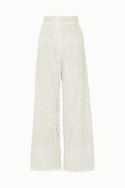 Corded lace wide-leg pants