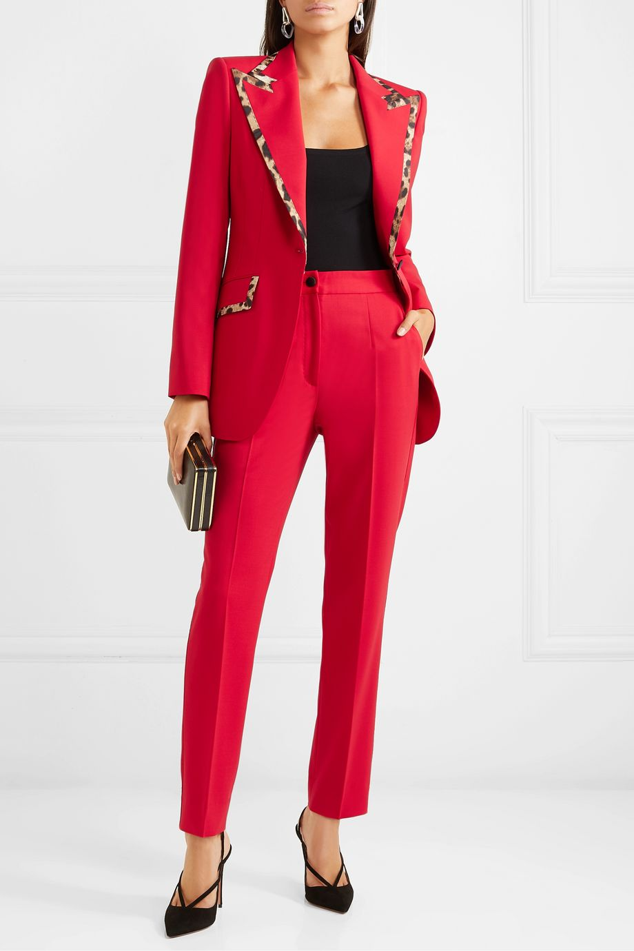 Dolce & Gabbana Wool-blend straight-leg pants
