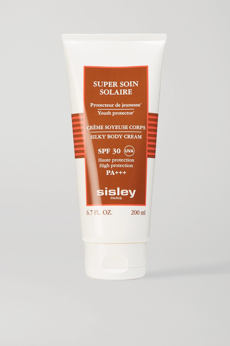 Sisley Super Soin Solaire Silky Body Cream LSF 30, 200 ml – Sonnencreme für den Körper