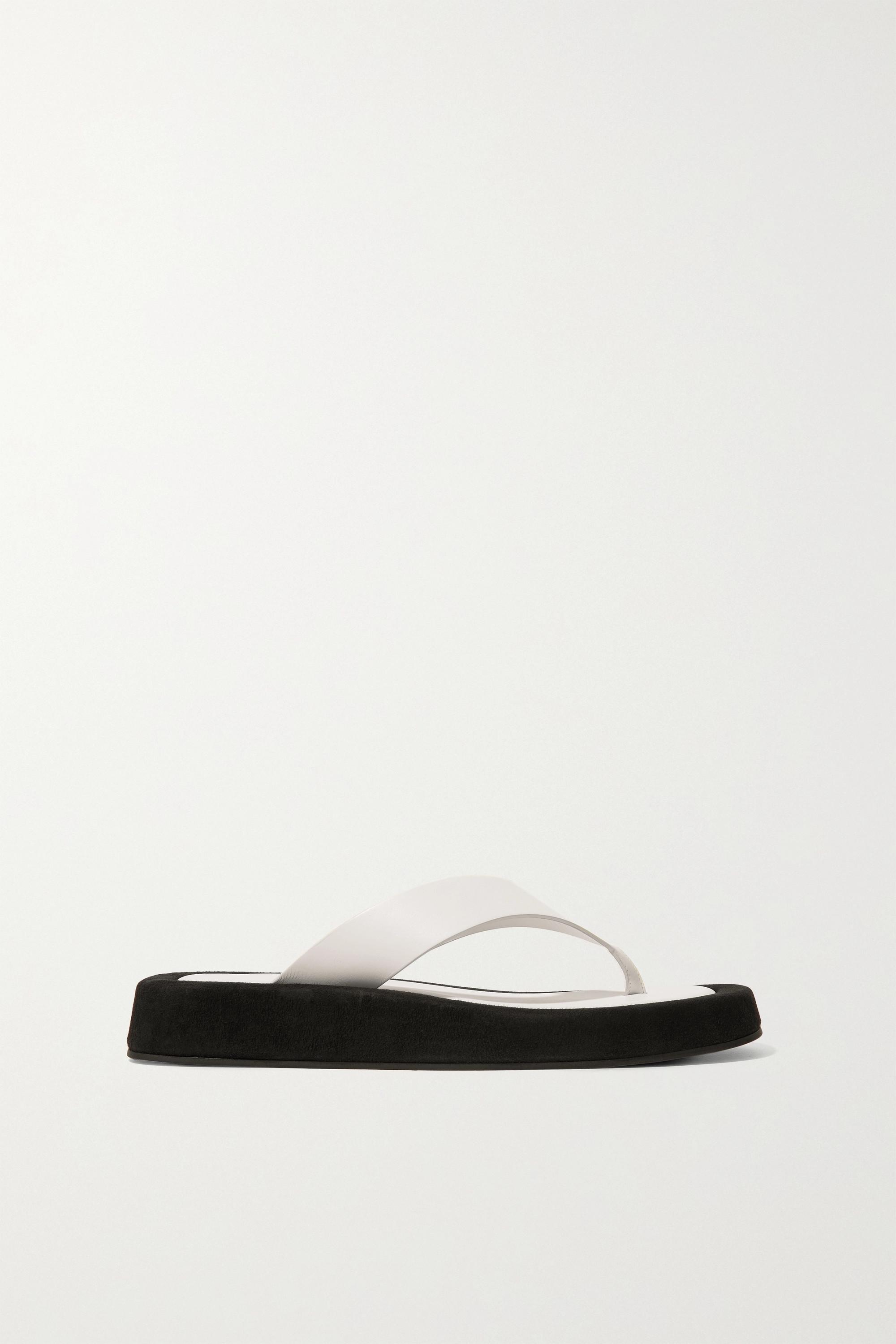 suede platform flip flops | The Row