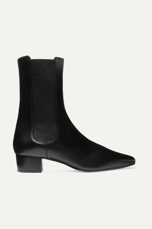 The Row British 皮革切尔西靴