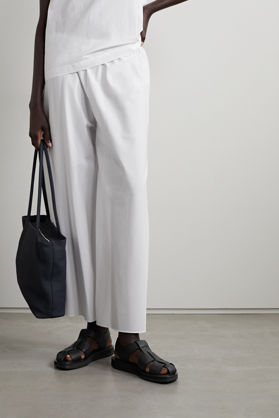 The Row Gaia woven leather sandals