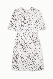 Stella McCartney + NET SUSTAIN Laurieton Minikleid aus Stretch-Cady mit Polka-Dots