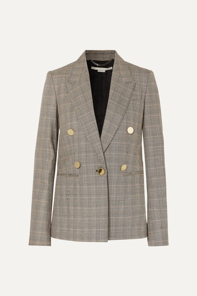 Prince Of Wales Checked Wool Blazer by Stella Mc Cartney