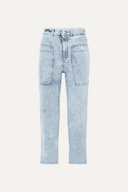 Stella McCartney + NET SUSTAIN cropped high-rise straight-leg jeans