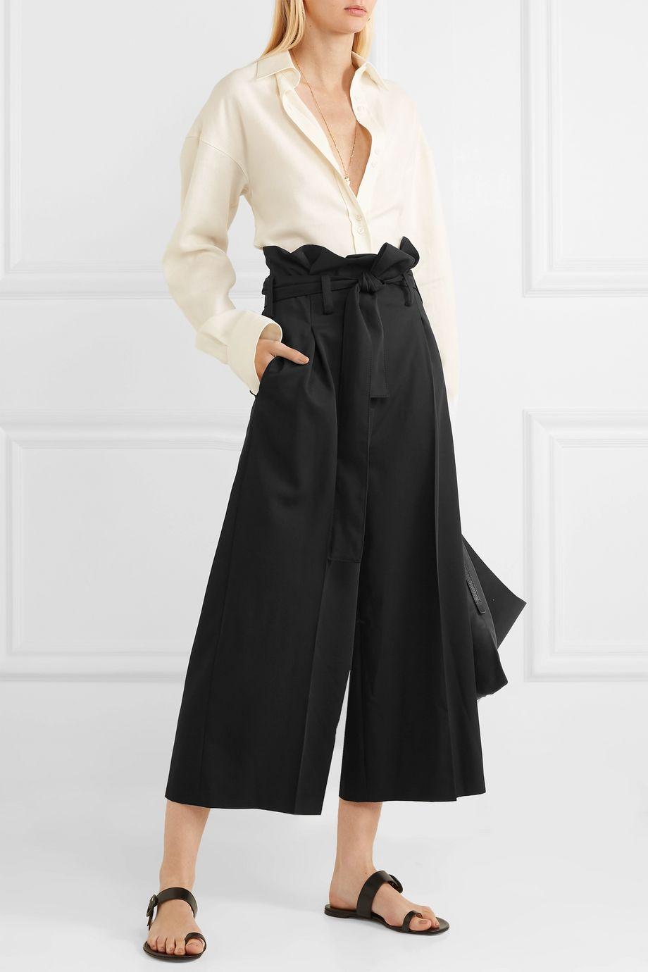 Stella McCartney Belted wool wide-leg pants