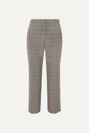 Stella McCartney Prince of Wales checked wool straight-leg pants