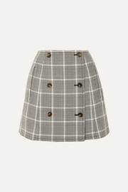 Stella McCartney Prince of Wales checked wool mini skirt