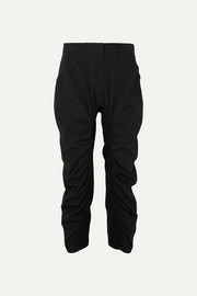 Stella McCartney Tina ruched wool-twill and cotton-blend pants