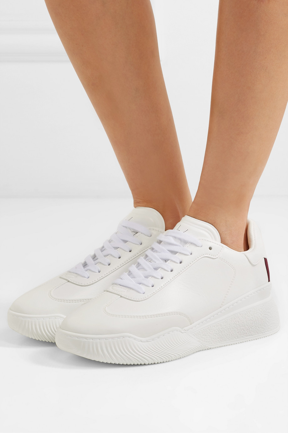 Stella McCartney Loop logo-embossed vegetarian leather sneakers