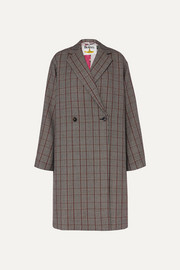 Stella McCartney + The Beatles oversized Prince of Wales checked wool coat
