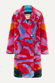 Stella McCartney + The Beatles faux fur coat