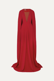 Stella McCartney + NET SUSTAIN mesh-paneled cady gown