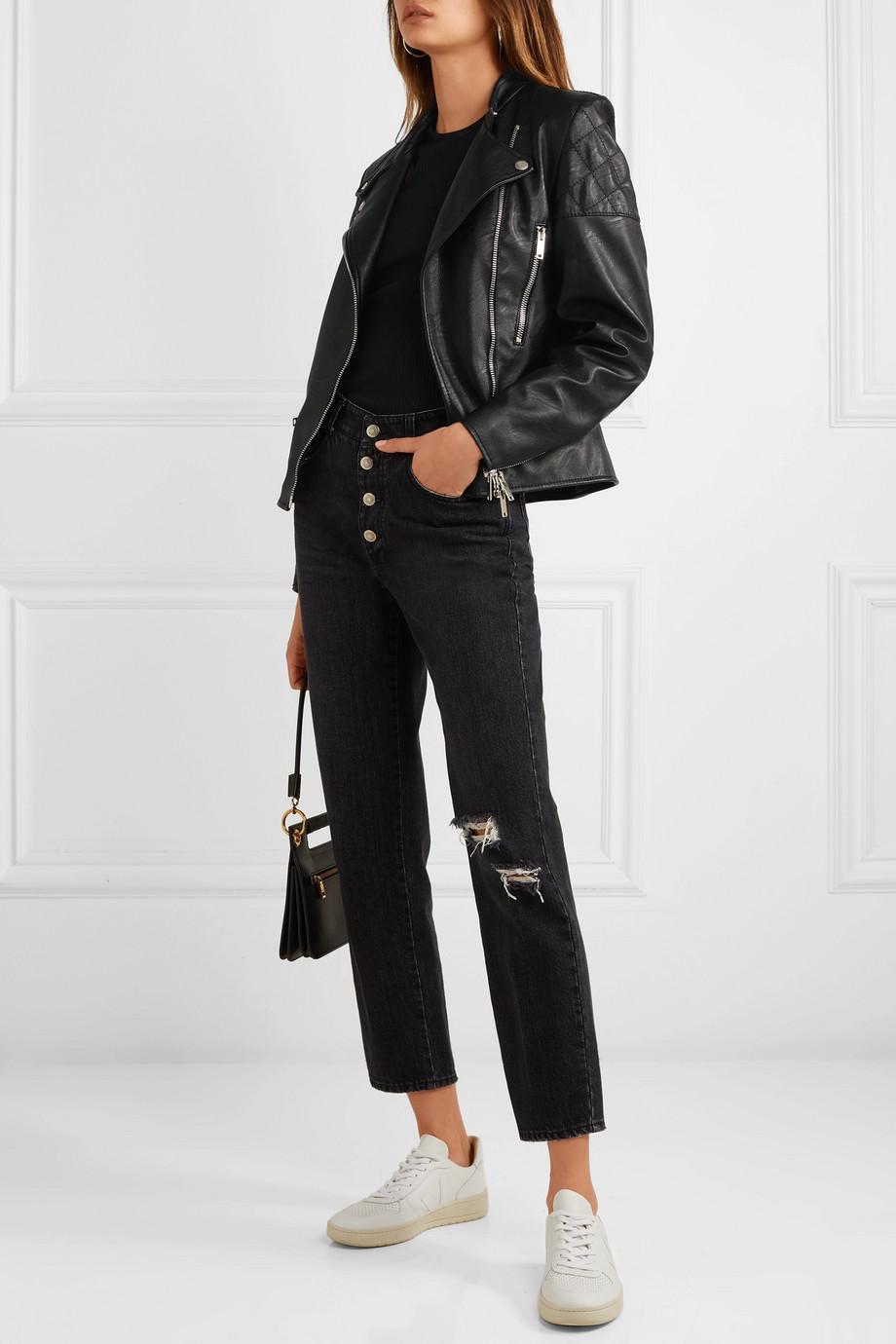 Stella McCartney Faux leather biker jacket