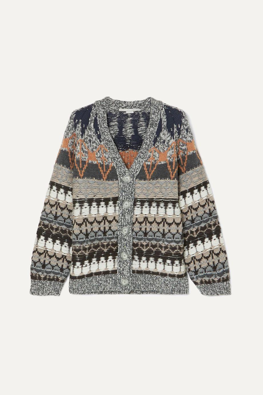 Stella McCartney 羊毛混纺提花开襟衫