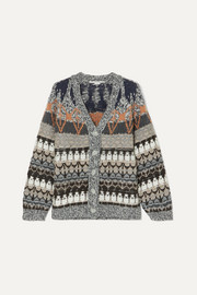 Stella McCartney Wool-blend jacquard cardigan