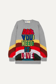 Stella McCartney + The Beatles All You Need Is Love oversized intarsia wool sweater