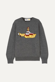 Stella McCartney + The Beatles oversized intarsia wool sweater