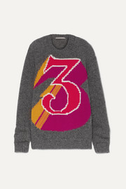 Stella McCartney + The Beatles intarsia alpaca-blend sweater