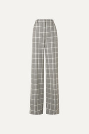 Stella McCartney Prince of Wales checked wool wide-leg pants