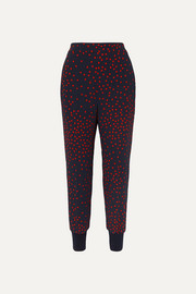 Stella McCartney + NET SUSTAIN polka-dot cady tapered pants