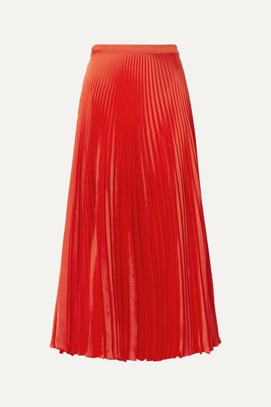 Stella Mccartney Skirts Pleated satin midi skirt