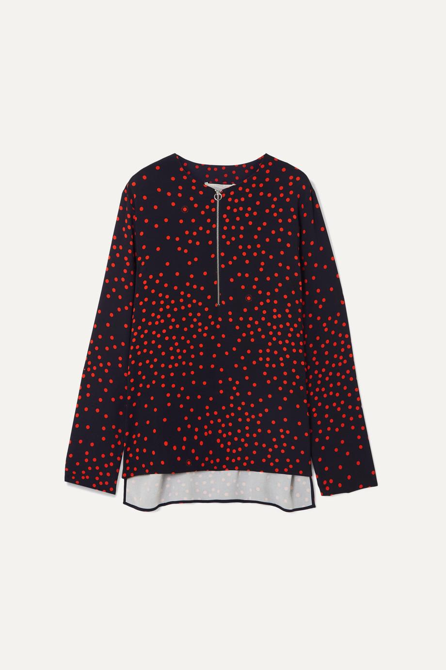 Stella McCartney + NET SUSTAIN polka-dot crepe blouse