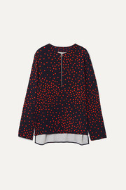 Stella McCartney + NET SUSTAIN polka-dot crepe blouse